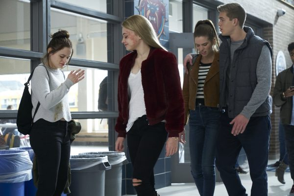 WU_07470(l-r) Joey King stars as Clare Shannon, Josephine Langford as Darcie Chapman, Daniela Barbosa as Lola Sanchez and Mitchell Slaggert as Paul Middlebrook in WISH UPON, a Broad Green